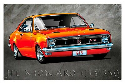 Holden GTS Monaro HT Coupe brand new.  tin metal sign MAN CAVE brand new