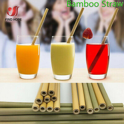 Bamboo Reusable Drinking Straws Biodegradable Straw Natural Organic Eco Friendly