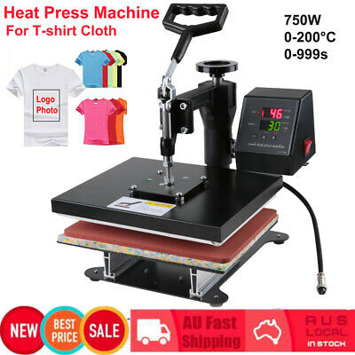 750W Heat Press Transfer T-Shirt Sublimation Printer Printing Machine 0-200°C