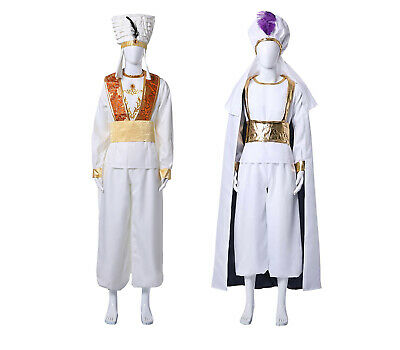 2019 Movie Aladdin Cosplay Prince Ali Halloween Adult Male Costume Outfit Suit