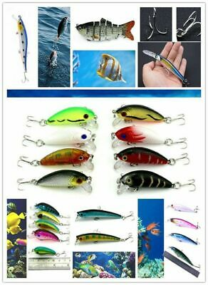 Biomimetic Fishing Minnow Lures Bass Crank Bait Tackle Hook Crankbait Outdo C9W7