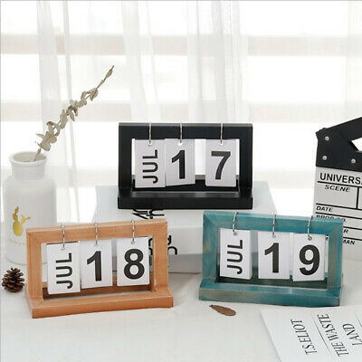 92953dd8d180 NATURAL WOOD PERPETUAL Desk Calendar Cube with Month, Date, Day ...