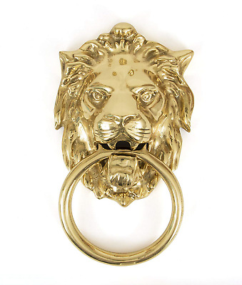 From the Anvil 33020 Lion's Head Door Knocker-Polished Brass, Gold, 6.8 Height X