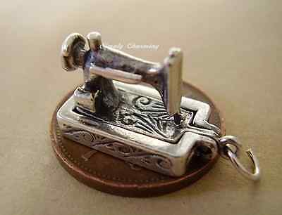 Sewing Machine sterling silver charm .925 x 1 seamstress charms SSLP1346