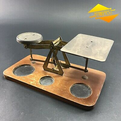 Vintage Antique Young Atom Reg Letter Postal Brass Balance Scales No Weights
