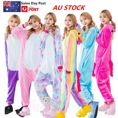 Cartoon Animal Pony Unicorn Sloth Cat Adult Onesie0 Kigurumi Pajamas Costume AU