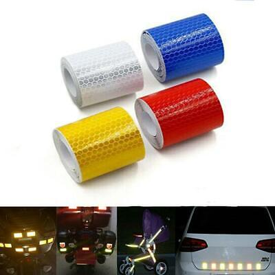 Car Truck Reflective Vinyl Safety Warn Conspicuity Roll Tape Film Sticker D Top
