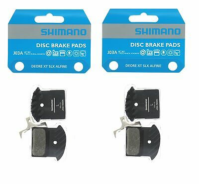 2 Packs Shimano J03A Disc Brake Resin Pad w/Fin for M9000 M8100 M7100 as J02A