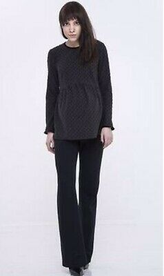 Paula Janz Maternity Top Jumper Long Sleeve Size 10 Small Work Wear