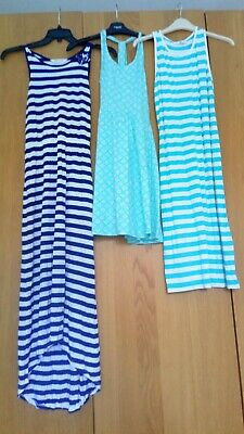 Bundle girls summer dress ages 10 to 12 next m&s H&M.  Great condition