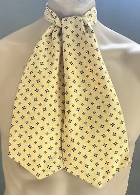 TOOTAL Mens Vintage Yellow & Multi Colour Print Self Tie Cravat/Ascot
