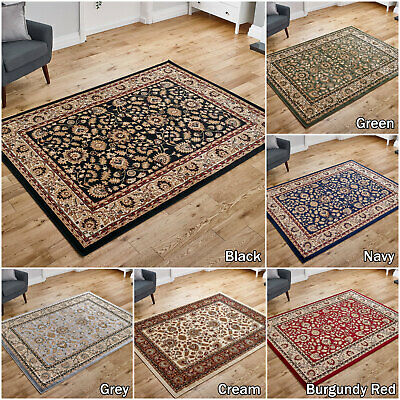 Grey Silver Navy Red Large Classic Traditional Soft Quality Low Cost Rug Runner