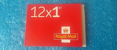 12x first class 1st class stamps book of 12 red peel off