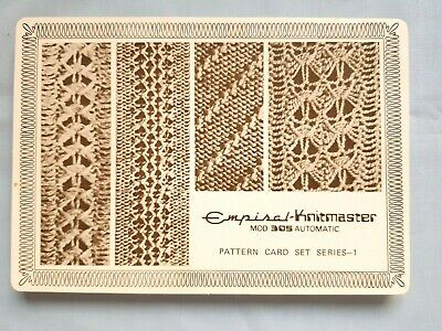 Pc323 Silver Reed Knitmaster Knitting Machine Mod 305 Automatic Design Cards X52