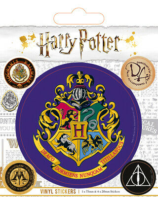 Harry Potter Vinyl Stickers Hogwarts Logo Deathly Hallows Ron Hermione Voldemort