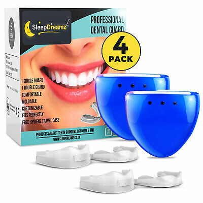 4 SLEEPDREAMZ® Dental Mouth Guards For Grinding Teeth Bruxism Night Guard TMJ