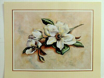MAGNOLIA FLOWER PICTURE MATTED FRAMED 16X20