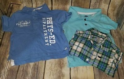 EUC Baby Boy's Shirts Old Navy The Childrens Place Carters Blue Green Teal #548