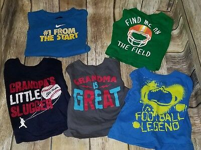EUC Baby Boy Shirt Lot 5 Pieces 9-12 Months Nike The Childrens Place #539