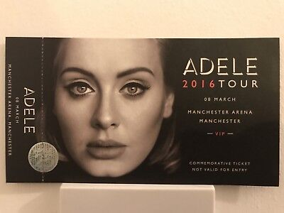 NEW Adele VIP Commemorative Ticket - 2016 UK/European Tour - All dates available