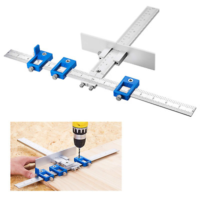 Aluminum Alloy Cabinet Hardware Jig Detachable Hole Punch Jig Tool Drill Guide