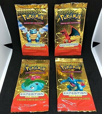 4 x ITALIAN EXPEDITION base set EMPTY BOOSTER PACK all artworks Pokemon Card