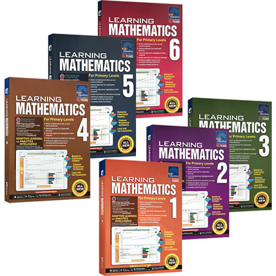 SAP Education Learning Mathematics For Primary Levels 1 to 6 - 6 Books