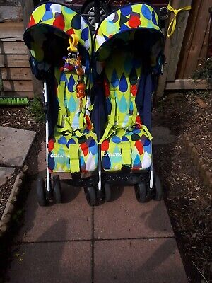 Cosatto double pram. To and Fro pattern is pitter patter.