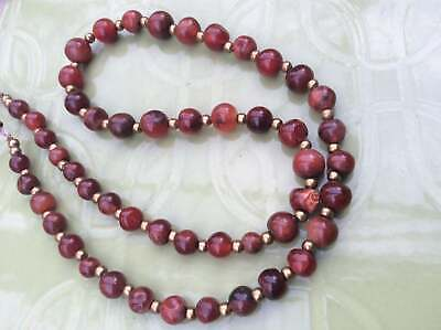 Ancient Rare Old Natural Carnelian Agate Tiny Bead Strand Necklace E