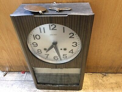 Seiko Pendulum Clock With Key - Parts Or Restoration Only