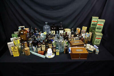 Giant Antique Patent Medicine Bottle & Apothecary Collection/Over 130 Different