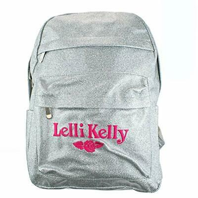Lelli Kelly Sparkly Glitter Back Pack In Metallic Silver (AH01)