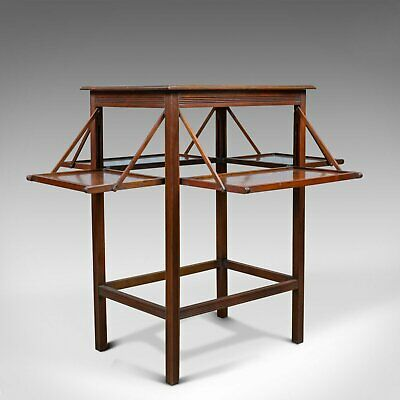 Antique Tea Table, English, Edwardian, Walnut, Cake Stand, Folding, Circa 1910