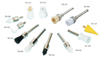 TPC Dental Snap, Screw-On and Latch Polishing Brushes