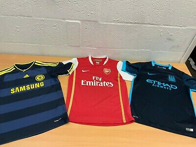 Child's Football Top Arsenal Fc Manchester City Chelsea Fc 12-13 Years