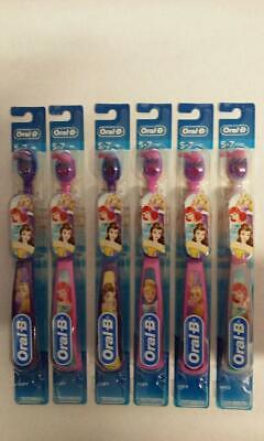 Oral-B Kids Manual Toothbrush Disney's Princess Characters, Soft bristles 6 pack