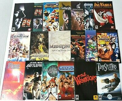 Various Original SONY Playstation PS2 Instruction Booklet MANUALS ONLY (no game)