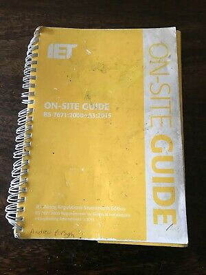 iet on site guide 767:2000 + a3:2015