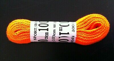 Bright Orange Sports Boot Laces. 100cm. Hiking. Walking. Running. Gym. Trainers.