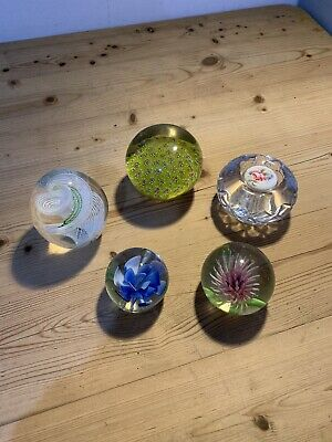 5 Glass Paperweights