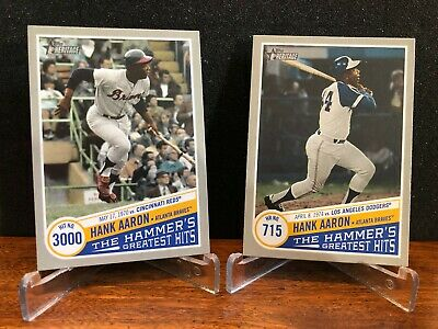 2019 Topps Heritage High THE HAMMER'S GREATEST HITS You Pick Finish Set Braves