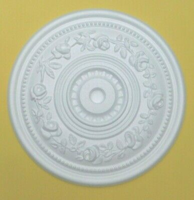Ceiling Rose Polystyrene Easy Fit  'ROSE GARLAND' 40 CM  Stylish Ceiling Centre.