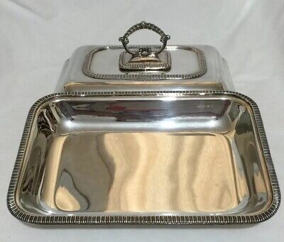 Vintage Cavalier Lidded Entree Dish Silver Plated