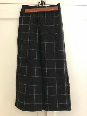 Play Up Designer Portugese Brand Girls Wide Leg Knit Black Check Pants  Size 8