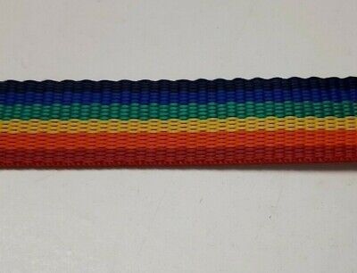 Rainbow Polyprop Webbing/Straping 25mm