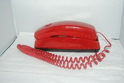 Red 'CORTELCO TRENDLINE push button dial desk/wall phone in WORKING condition