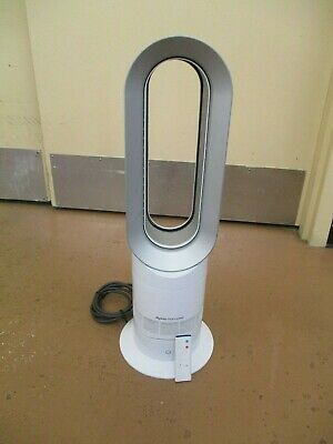 Dyson AM09 Hot + Cool Jet Focus Fan Heater - White/Silver With Remote