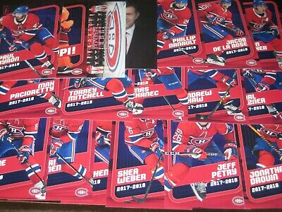 lot of 18 '17/18 MONTREAL CANADIENS team issued cards w/ GALLAGHER DROUIN WEBER