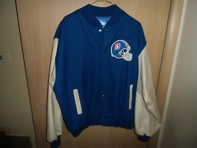 finest selection 4d957 f08fe VTG CHALK LINE Old School WOOL DENVER BRONCOS VARSITY JACKET ...