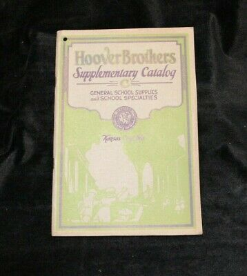 1926 Hoover Brothers Supplementary Catalog General School Supplies Kansas City